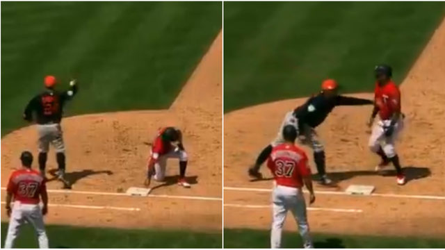 Miguel Cabrera fakes throw back to pitcher, tricks Twins base runner,&hellip&#x3b;
