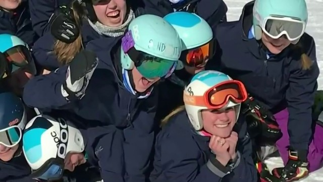 Local honor student also reaching new heights in competitive skiing