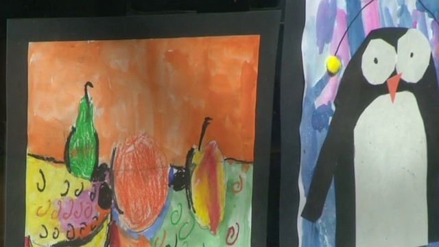 Downtown Ann Arbor businesses celebrate young artists through artwork displays