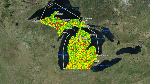 New interactive map gives up-to-date conditions on Michigan bridges
