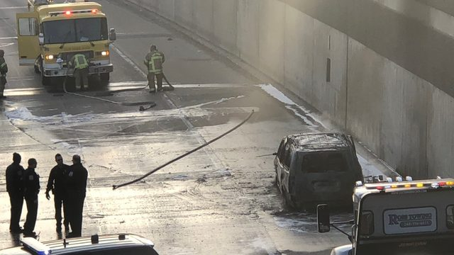 Eastbound I-696 reopens at Greenfield Road in Southfield after vehicle fire