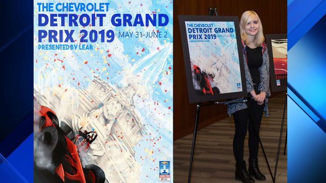Winner of Detroit Grand Prix poster competition announced