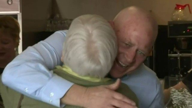 Mother, son reunite after 63 years