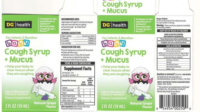 Baby cough syrup sold nationwide recalled for possible bacterial contamination
