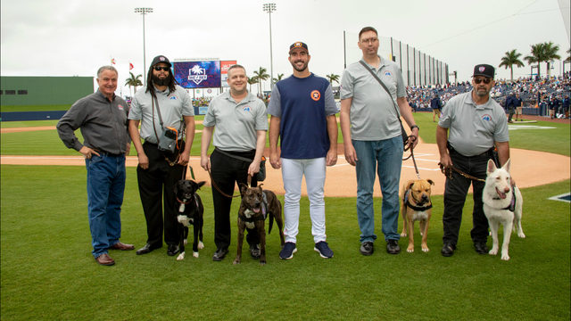 Former Detroit Tiger Justin Verlander, Kate Upton present service dogs&hellip&#x3b;