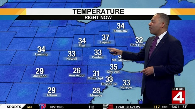 Metro Detroit weather forecast: Becoming cloudy, milder Sunday