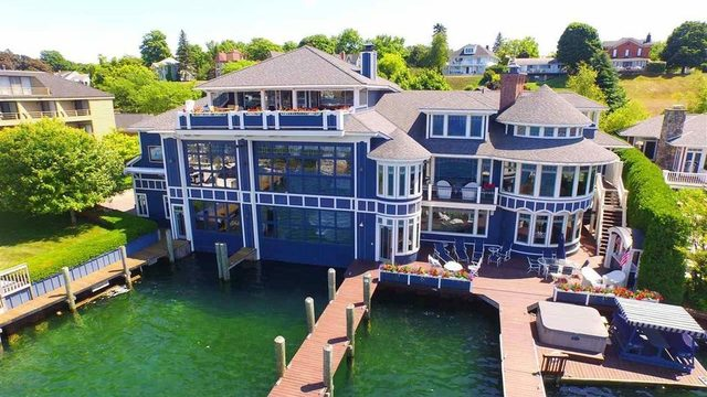 Massive Northern Michigan estate with private boathouse lists for $6.8M