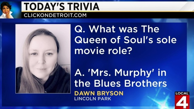 Morning Trivia on March 25, 2019: Dawn Bryson knows her Aretha!