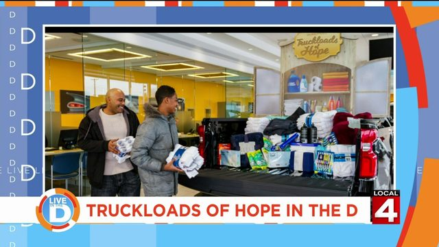 Chevy is delivering truckloads of hope to people in the D!