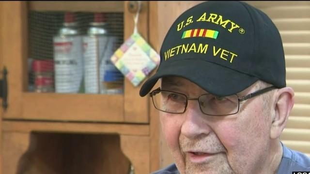 Veteran overwhelmed by gesture