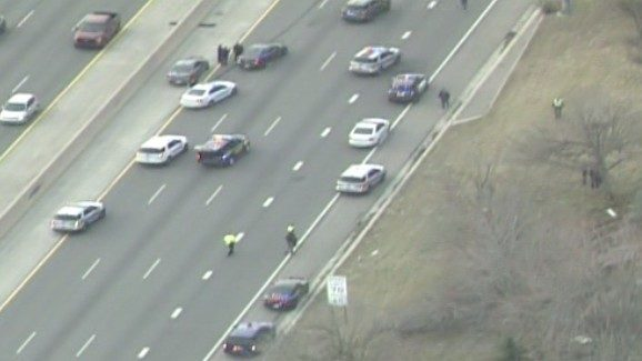 Westbound I-94 reopens at 12 Mile Road after crash linked to police chase