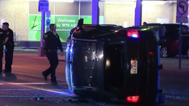 Dearborn officer involved in rollover crash after responding to traffic stop