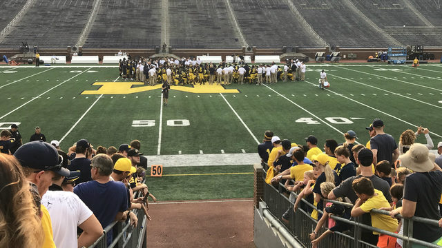 See Michigan football in action at two open practices this month