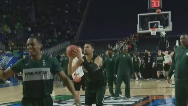 MSU Spartans practice for Final Four at U.S. Bank Stadium