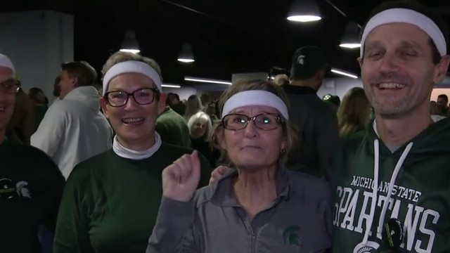 Michigan State fans invade Final Four in Minneapolis