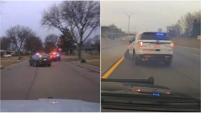 Dashcam footage shows chaotic Metro Detroit chase involving stolen…
