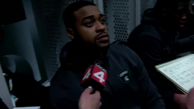 Interviews from inside the Michigan State University locker room