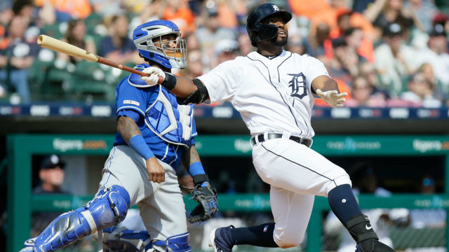 Stewart's grand slam lifts Tigers over Royals 7-4