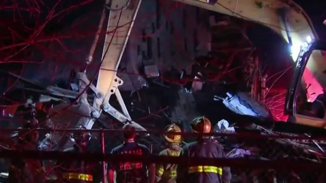 Fire-damaged house collapses on Detroit's west side