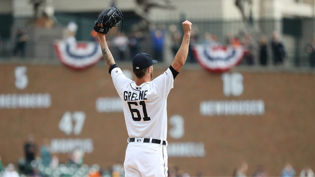 Detroit Tigers closer Shane Green is first pitcher ever to get 7 saves…