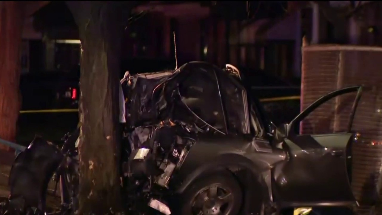 Man, woman killed in single-car crash, fire on Detroit's west