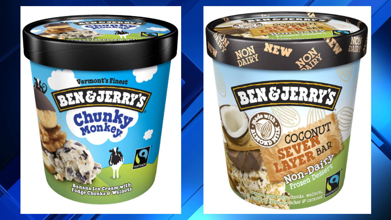 'Chunky Monkey,' 'Coconut Seven Layer Bar' Ben & Jerry's flavors recalled