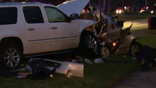 Chase ends in 6-car pileup on Detroit's east side