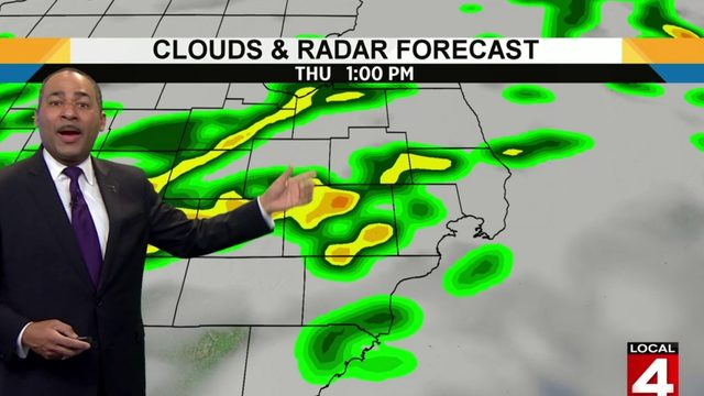 Metro Detroit weather: Showers, thunderstorms expected Thursday