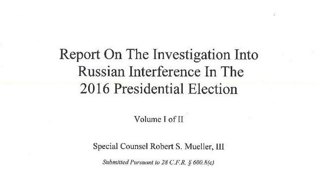READ HERE: Text of full Mueller report, with some redactions