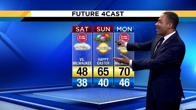 Metro Detroit weather: Rain returning by the end of Good Friday