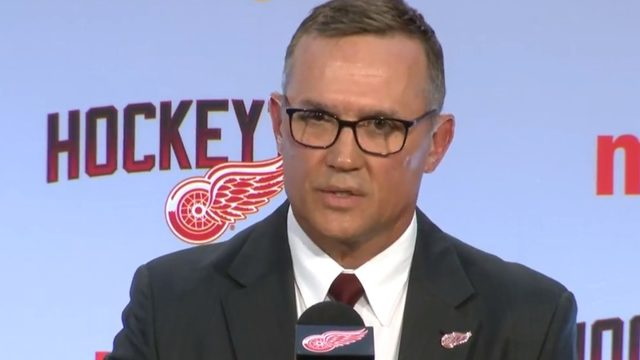 Red Wings introduce Steve Yzerman as general manager