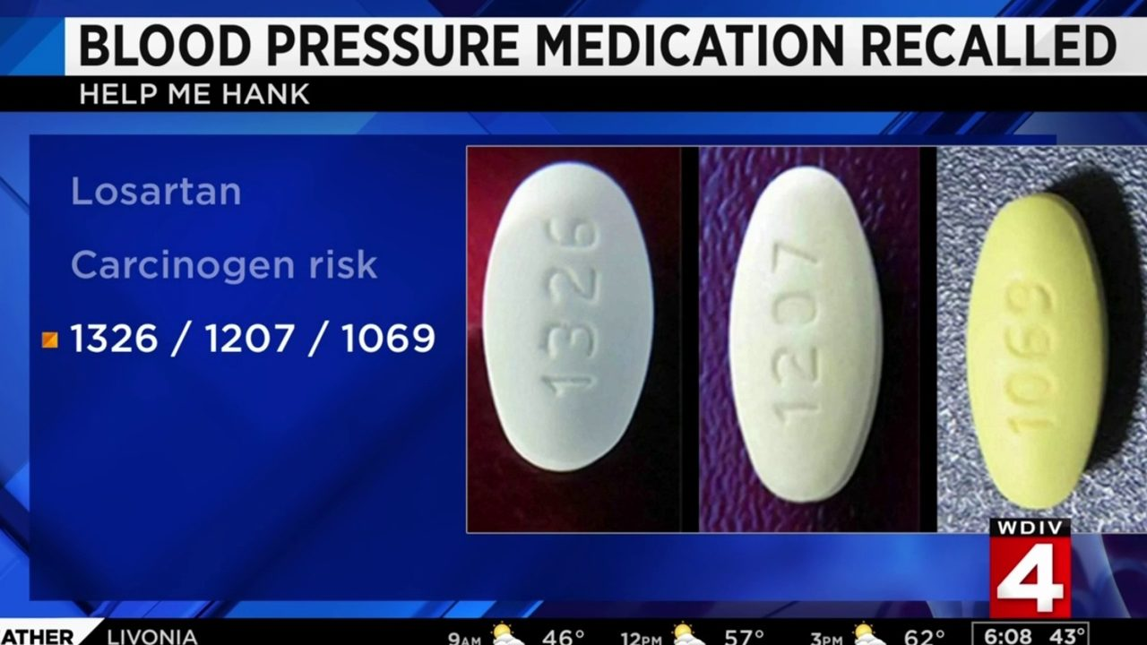 Recall on blood pressure medication