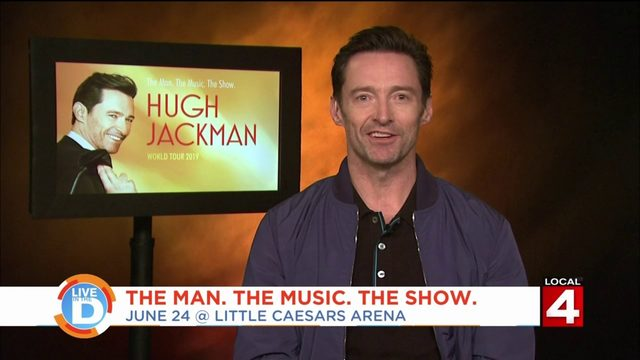 Actor Hugh Jackman talks about performing in Detroit and his love for the city