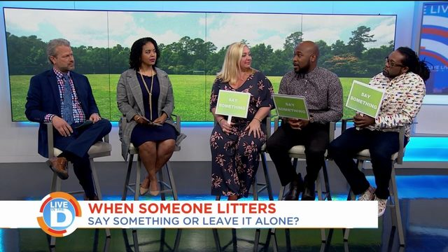 Would you say something if you saw someone litter?