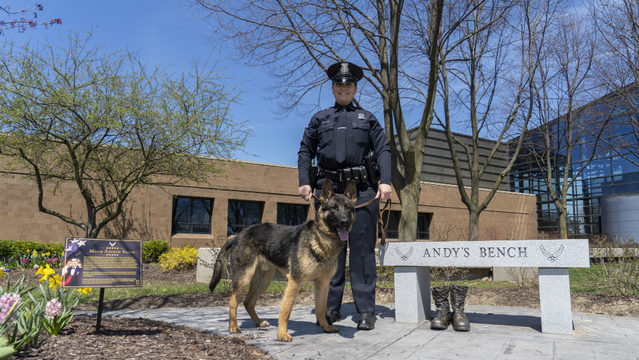 Novi police name new K-9 after local fallen Air Force veteran
