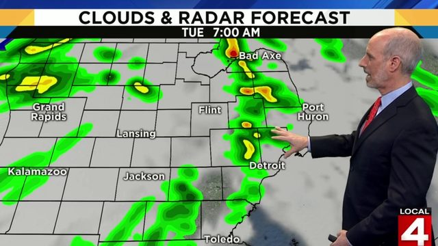 Metro Detroit weather: Rainy start Tuesday, then chance for sun