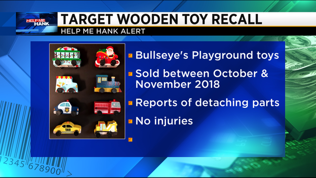 Target recalls wooden toys due to choking hazard