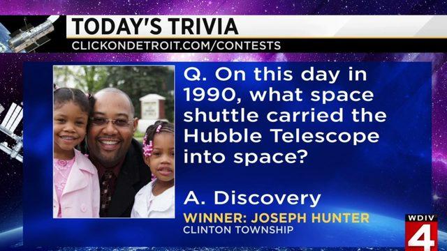 Morning Trivia for April 24, 2019: Joseph Hunter is far out!