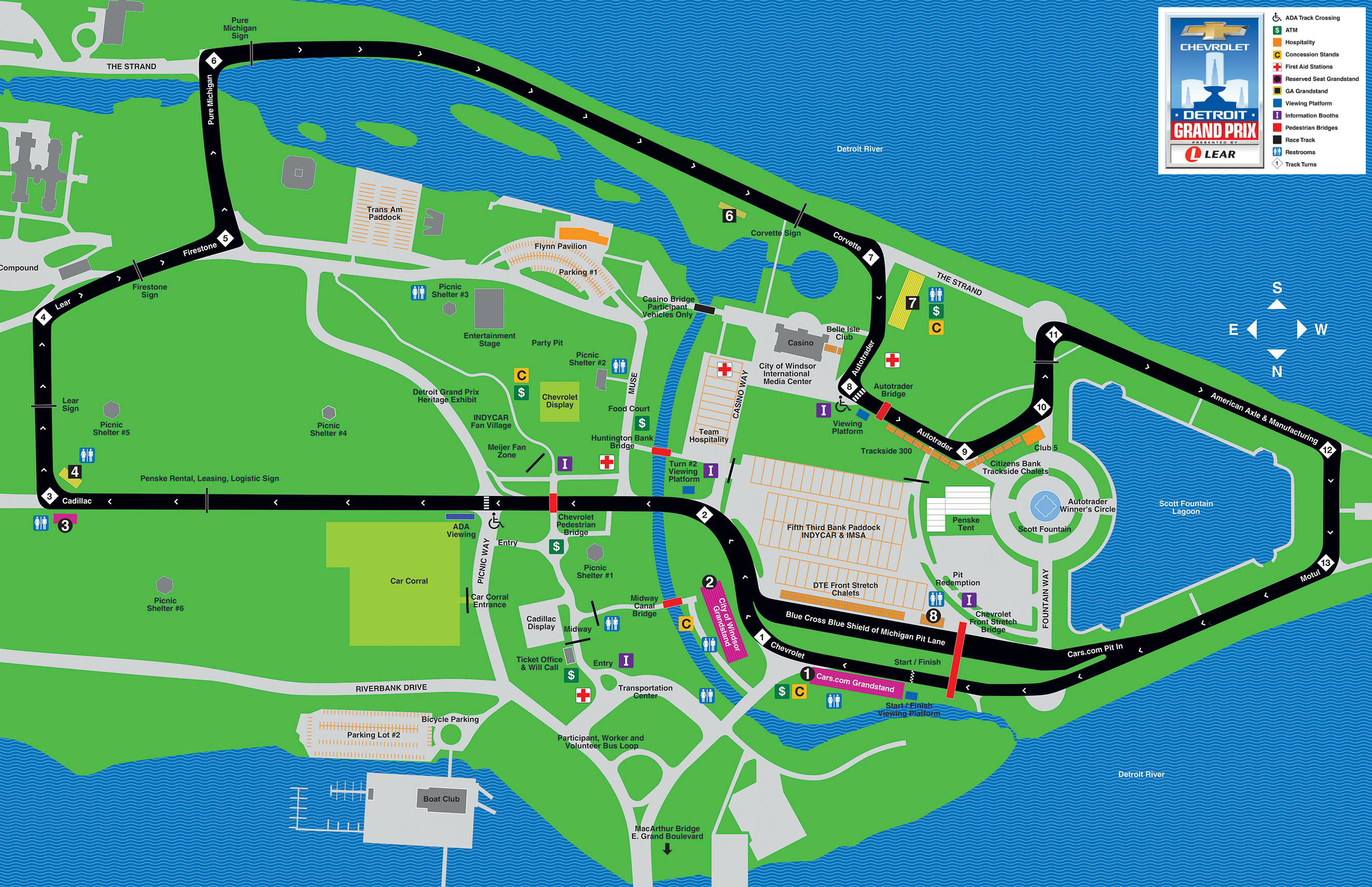 Detroit Grand Prix 2019: Here's the official Belle Isle race map on
