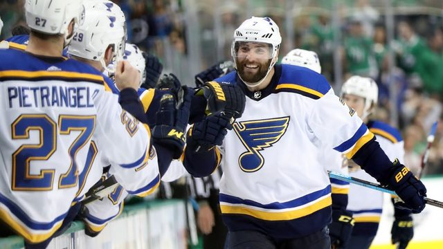 Blues prevail in wild 3rd period to beat Stars 4-3 for 2-1 lead