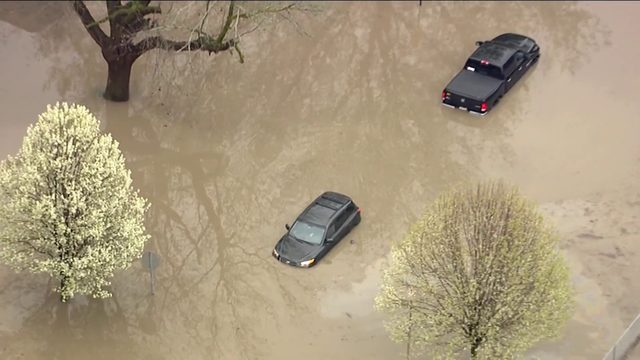 Video shows flooding throughout Metro Detroit