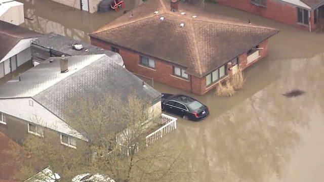 WATCH: Flooding throughout Metro Detroit