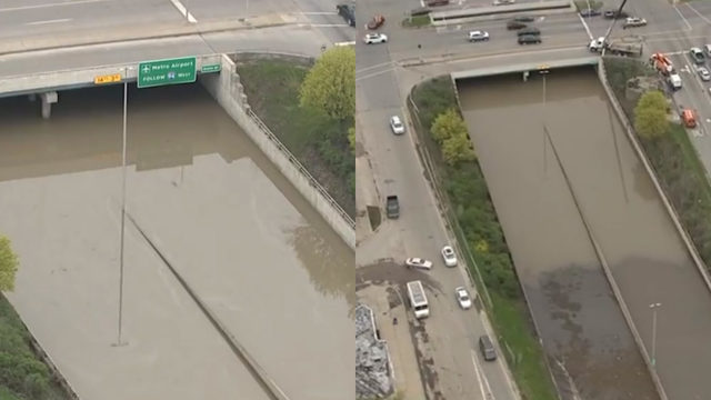 All lanes of Southfield Freeway back open after severe flooding closed road