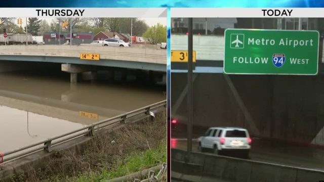 Southfield Freeway reopens after being flooded for days