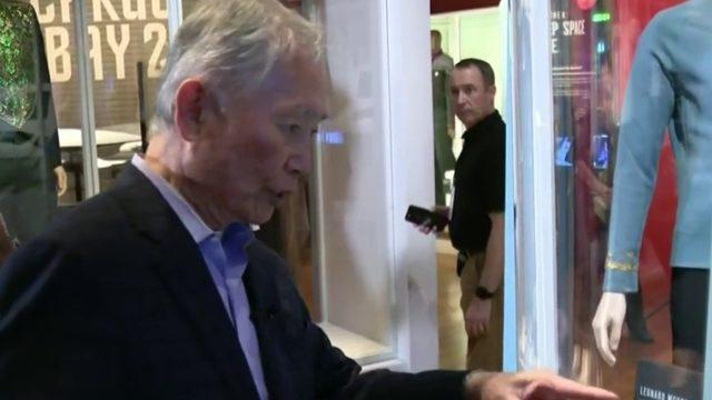 George Takei checks out new Star Trek Exhibit