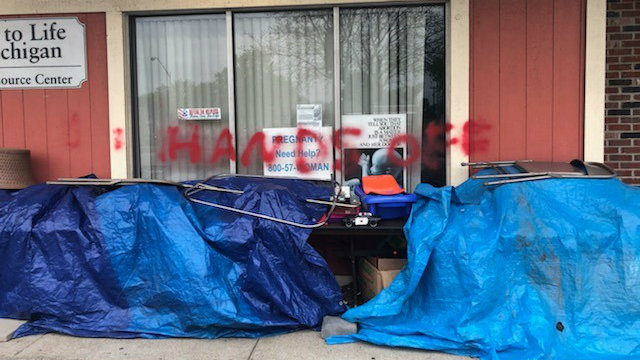 Right to Life of Michigan center in Wayne County vandalized