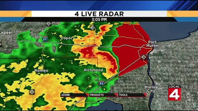 Tornado warning for St. Clair County canceled