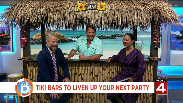 Escape to a tropical paradise in your backyard with White Sands Tiki Bars