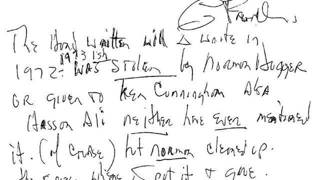 VIEW HERE: Aretha Franklin's 3 handwritten wills