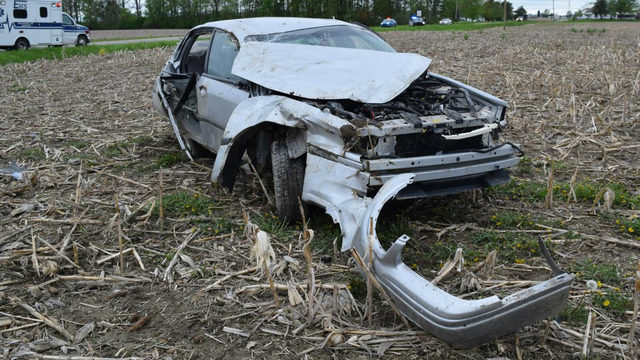 Teens ejected from car that flipped multiple times in Lapeer County